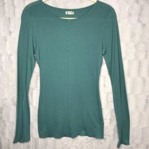 Intimately Free People Ribbed Teal Long Sleeve